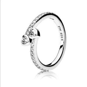 Pandora FOREVER HEARTS RING Sterling Silver,